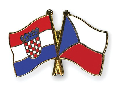 Crossed Flag Pins Croatia-Czech-Republic