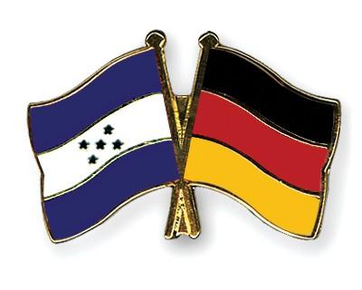 Crossed Flag Pins Honduras-Germany