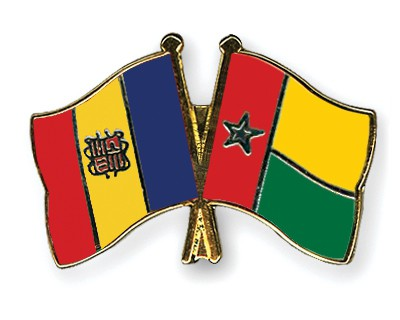 Crossed Flag Pins Andorra-Guinea-Bissau
