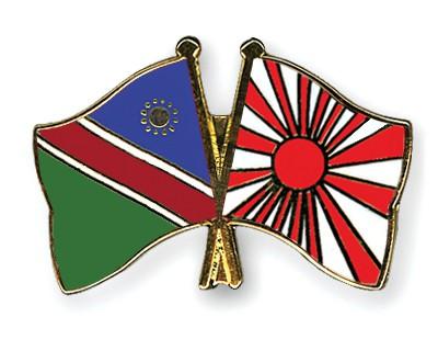 Crossed Flag Pins Namibia-Japan-War-Flag