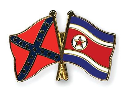 Crossed Flag Pins Confederate-battle-North-Korea