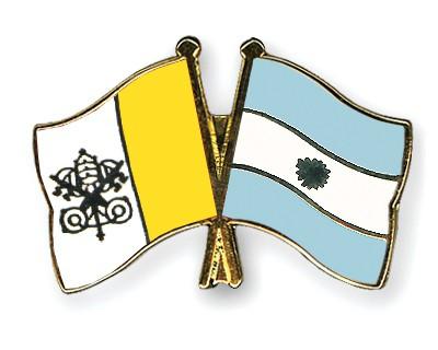 Crossed Flag Pins Vatican-City-Argentina