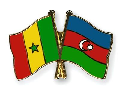 Crossed Flag Pins Senegal-Azerbaijan