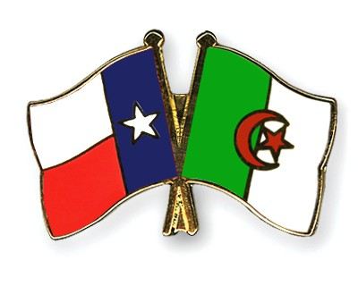 Crossed Flag Pins Texas-Algeria