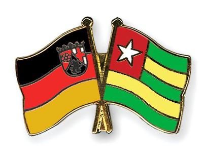 Crossed Flag Pins Rhineland-Palatinate-Togo