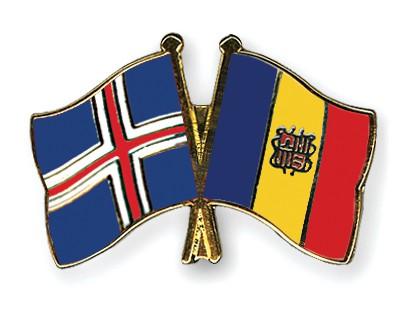 Crossed Flag Pins Iceland-Andorra