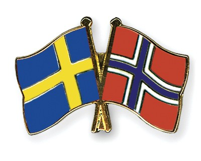 Special Offer Crossed Flag Pins Sweden-Norway