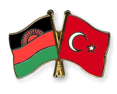 Crossed Flag Pins Malawi-Turkey