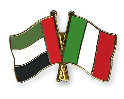 Crossed Flag Pins United-Arab-Emirates-Italy