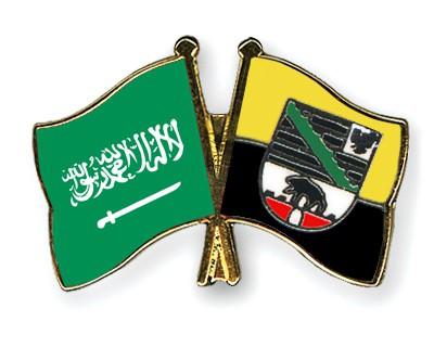 Crossed Flag Pins Saudi-Arabia-Saxony-Anhalt