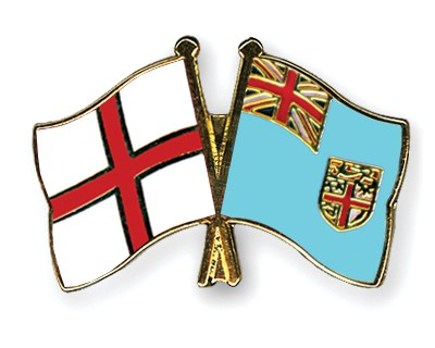 Crossed Flag Pins England-Fiji