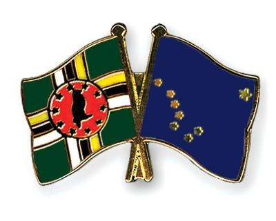 Crossed Flag Pins Dominica-Alaska