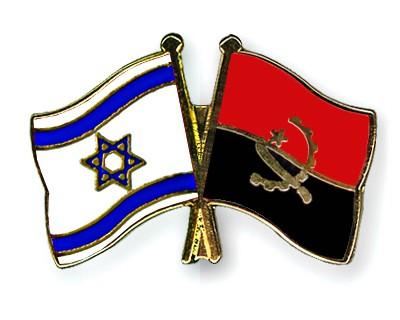 Crossed Flag Pins Israel-Angola