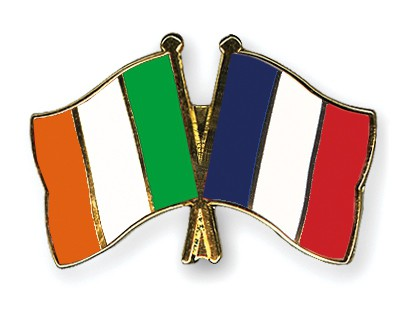 Special Offer Crossed Flag Pins Ireland-France