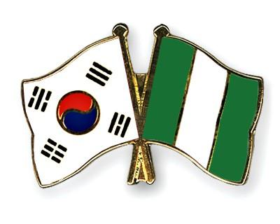 Crossed Flag Pins South-Korea-Nigeria