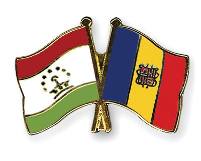 Crossed Flag Pins Tajikistan-Andorra