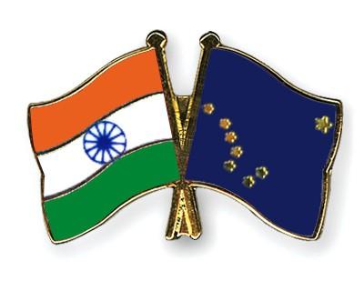 Crossed Flag Pins India-Alaska