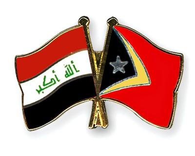 Crossed Flag Pins Iraq-Timor-Leste