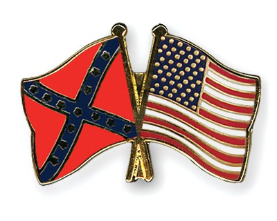 Crossed Flag Pins Confederate-battle-USA
