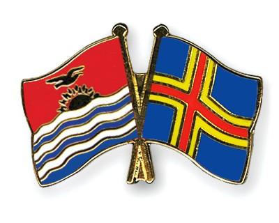 Crossed Flag Pins Kiribati-Aland
