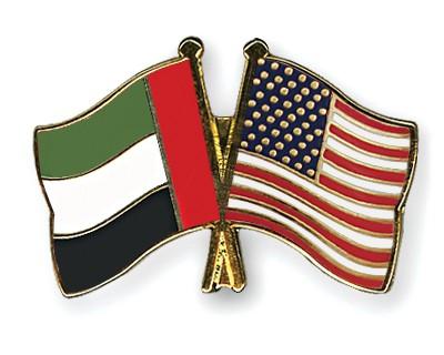 Crossed Flag Pins United-Arab-Emirates-USA