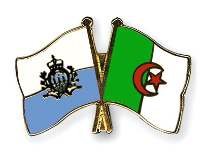 Crossed Flag Pins San-Marino-Algeria