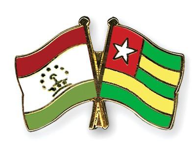 Crossed Flag Pins Tajikistan-Togo