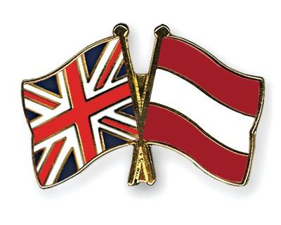 Crossed Flag Pins Great-Britain-Austria