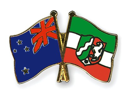 Crossed Flag Pins New-Zealand-North-Rhine-Westphalia