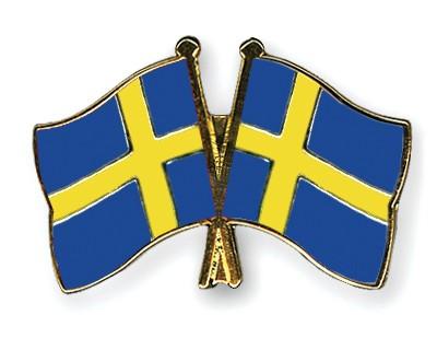 Crossed Flag Pins Sweden-Sweden