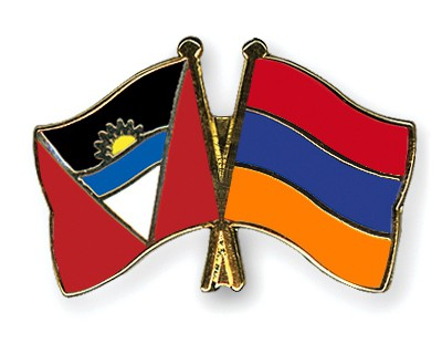 Crossed Flag Pins Antigua-and-Barbuda-Armenia
