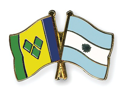 Crossed Flag Pins Saint-Vincent-and-the-Grenadines-Argentina