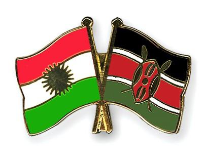 Crossed Flag Pins Kurdistan-Kenya