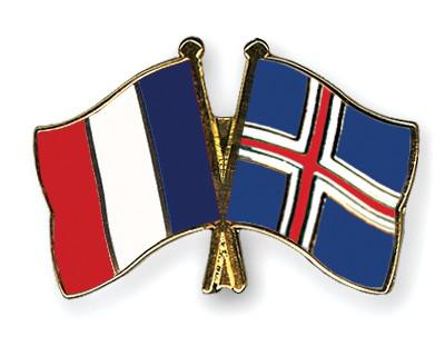 Crossed Flag Pins France-Iceland