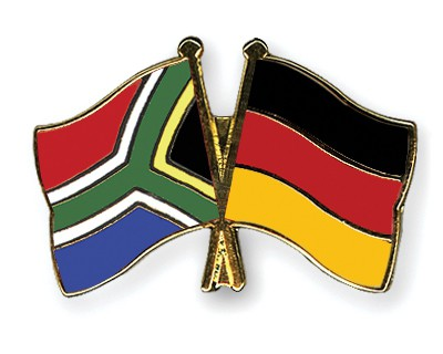 Special Offer Crossed Flag Pins South-Africa-Germany