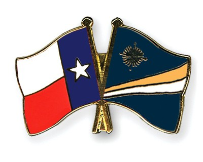 Crossed Flag Pins Texas-Marshall-Islands
