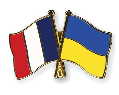 Special Offer Crossed Flag Pins France-Ukraine