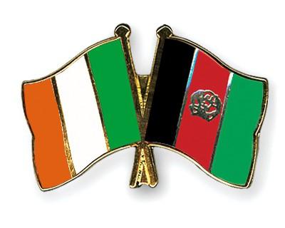 Crossed Flag Pins Ireland-Afghanistan