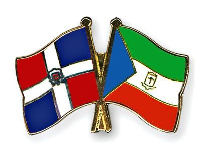 Crossed Flag Pins Dominican-Republic-Equatorial-Guinea