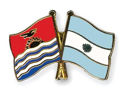Crossed Flag Pins Kiribati-Argentina