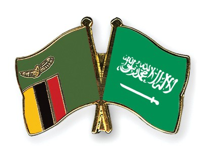Special Offer Crossed Flag Pins Zambia-Saudi-Arabia