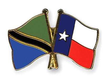 Crossed Flag Pins Tanzania-Texas