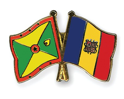 Crossed Flag Pins Grenada-Andorra