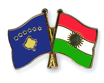 Crossed Flag Pins Kosovo-Kurdistan