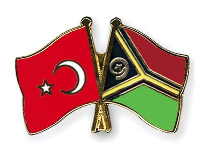 Crossed Flag Pins Turkey-Vanuatu