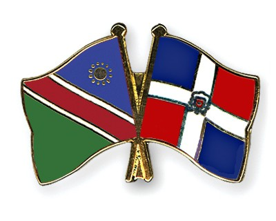 Crossed Flag Pins Namibia-Dominican-Republic