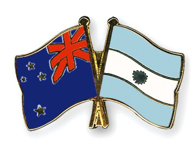 Crossed Flag Pins New-Zealand-Argentina