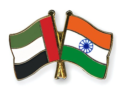 Crossed Flag Pins United-Arab-Emirates-India
