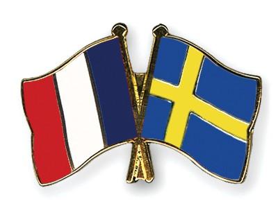 Special Offer Crossed Flag Pins France-Sweden