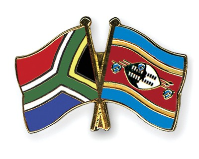 Crossed Flag Pins South-Africa-Swaziland